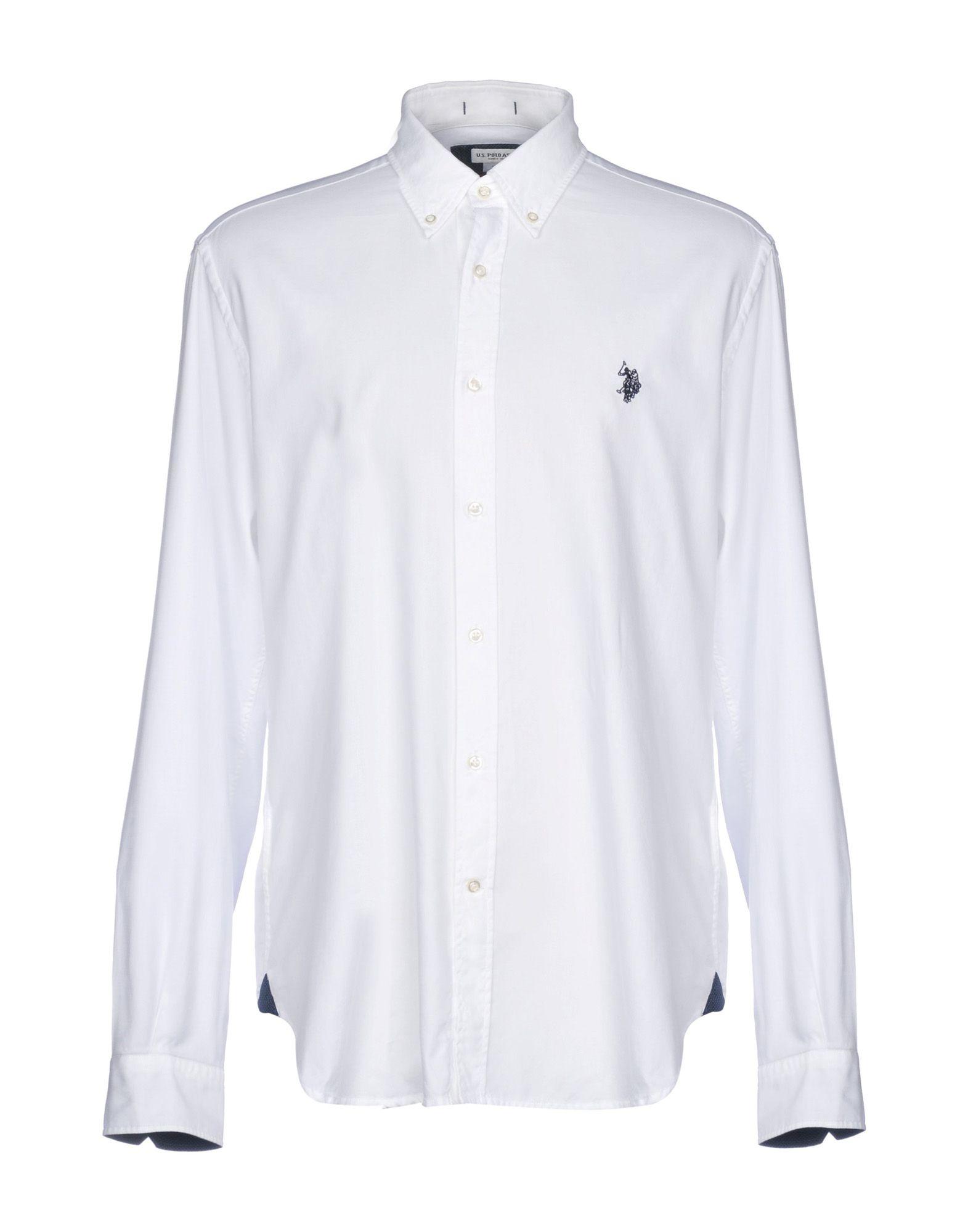 《送料無料》U.S.POLO ASSN. メンズ シャツ ホワイト XL コットン 100%