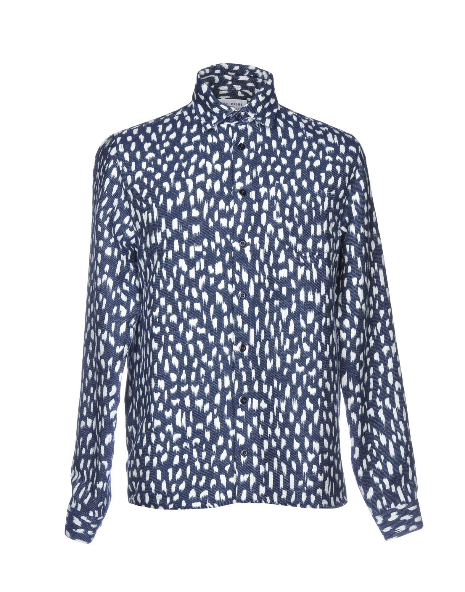 《セール開催中》LIBERTINE-LIBERTINE メンズ シャツ ダークブルー L コットン 79% / ポリエステル 21%