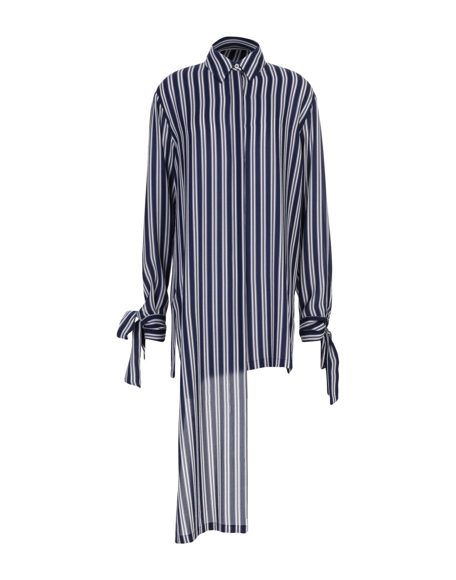 《送料無料》MICHAEL KORS COLLECTION レディース シャツ ダークブルー 2 シルク 100%