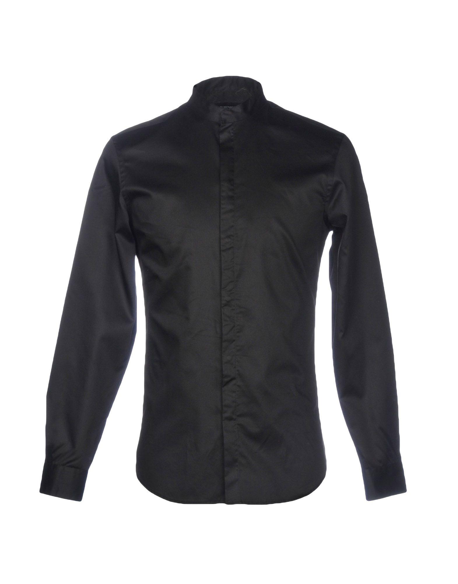 《セール開催中》EMPORIO ARMANI メンズ シャツ ブラック 38 コットン 100%