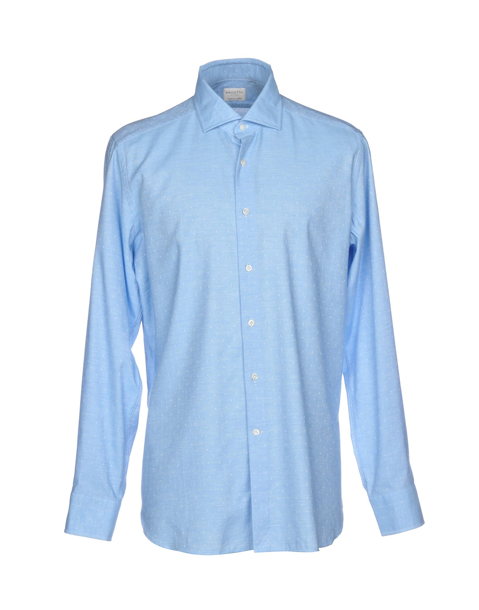 《送料無料》BAGUTTA メンズ シャツ アジュールブルー 38 コットン 100%