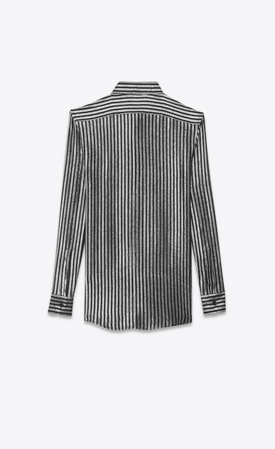 SAINT LAURENT Classic Shirts Woman lamé silk mousseline shirt b_V4