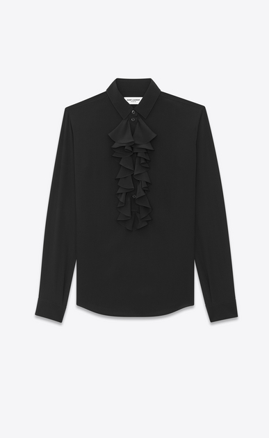 Jabot shirt in silk