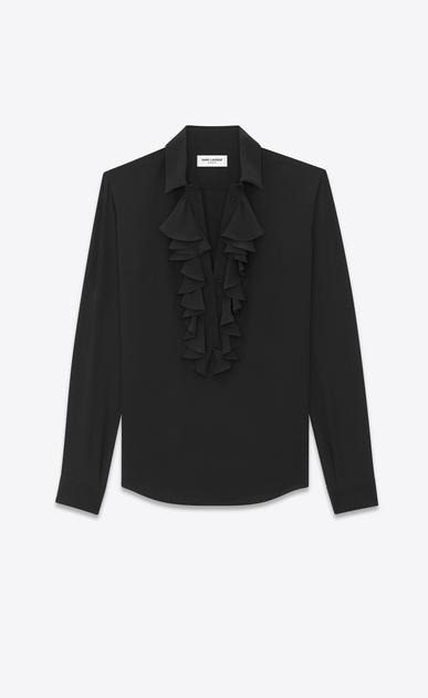 SAINT LAURENT カジュアルシャツ レディース Jabot shirt in silk b_V4