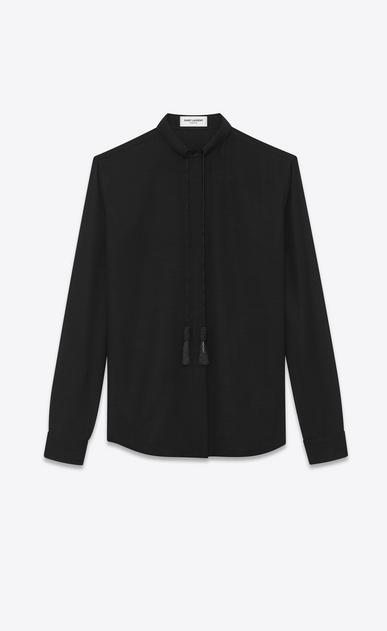 """SAINT LAURENT カジュアルシャツ レディース Monogram tassel shirt in """"voile de laine"""" a_V4"""