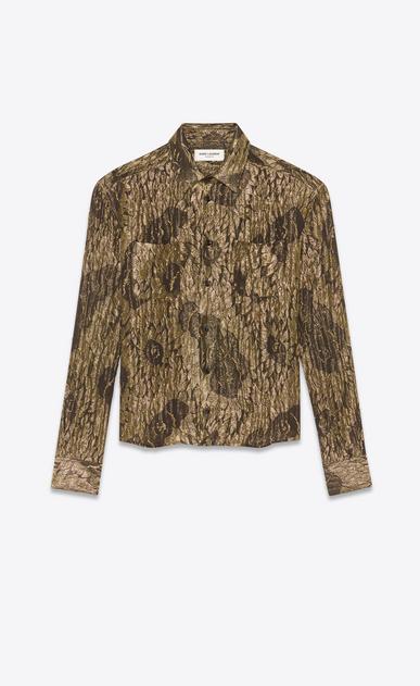 SAINT LAURENT Camicie Classiche Uomo Camicia lamé stampa girasole a_V4