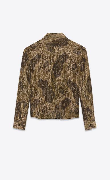 SAINT LAURENT Camicie Classiche Uomo Camicia lamé stampa girasole b_V4