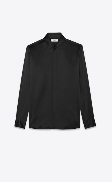 SAINT LAURENT Klassische Hemden Herren washed silk satin shirt a_V4