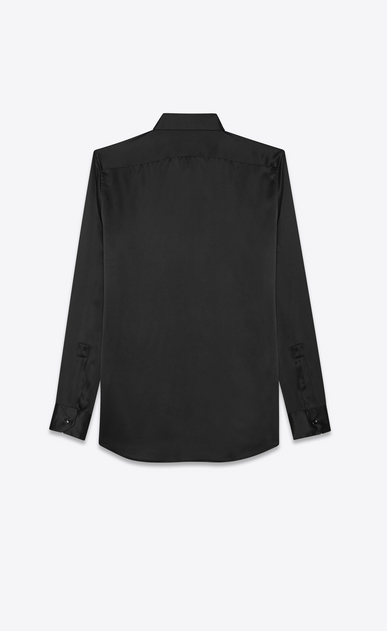 SAINT LAURENT Klassische Hemden Herren washed silk satin shirt b_V4