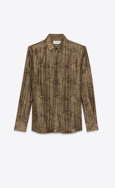 SAINT LAURENT クラシックシャツ メンズ jacquard lurex shirt a_V4