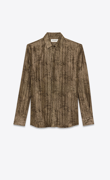 SAINT LAURENT Camicie Classiche Uomo Camicia jacquard lurex a_V4