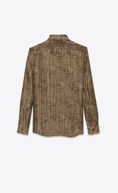SAINT LAURENT クラシックシャツ メンズ jacquard lurex shirt b_V4