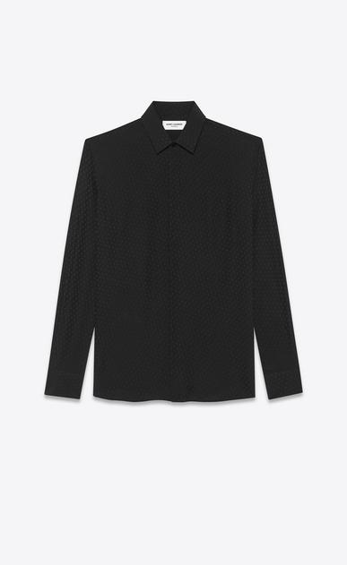SAINT LAURENT Camicie Classiche Uomo Camicia in seta stampa fiori a_V4