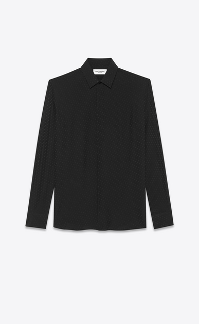 SAINT LAURENT Classic Shirts Man silk jacquard shirt a_V4