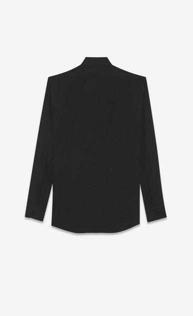 SAINT LAURENT クラシックシャツ メンズ club silk jacquard shirt b_V4