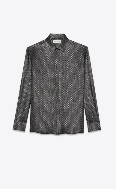 silk jacquard lurex shirt