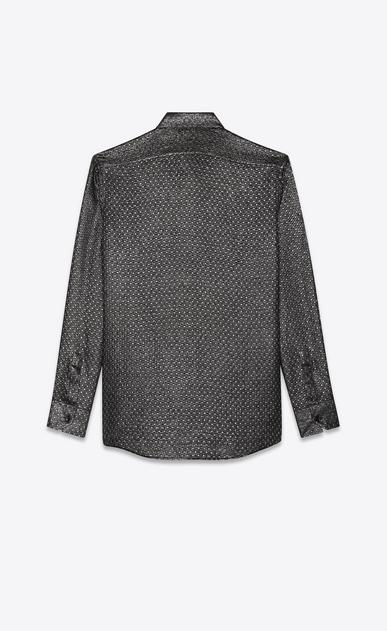 SAINT LAURENT クラシックシャツ メンズ silk jacquard lurex shirt b_V4