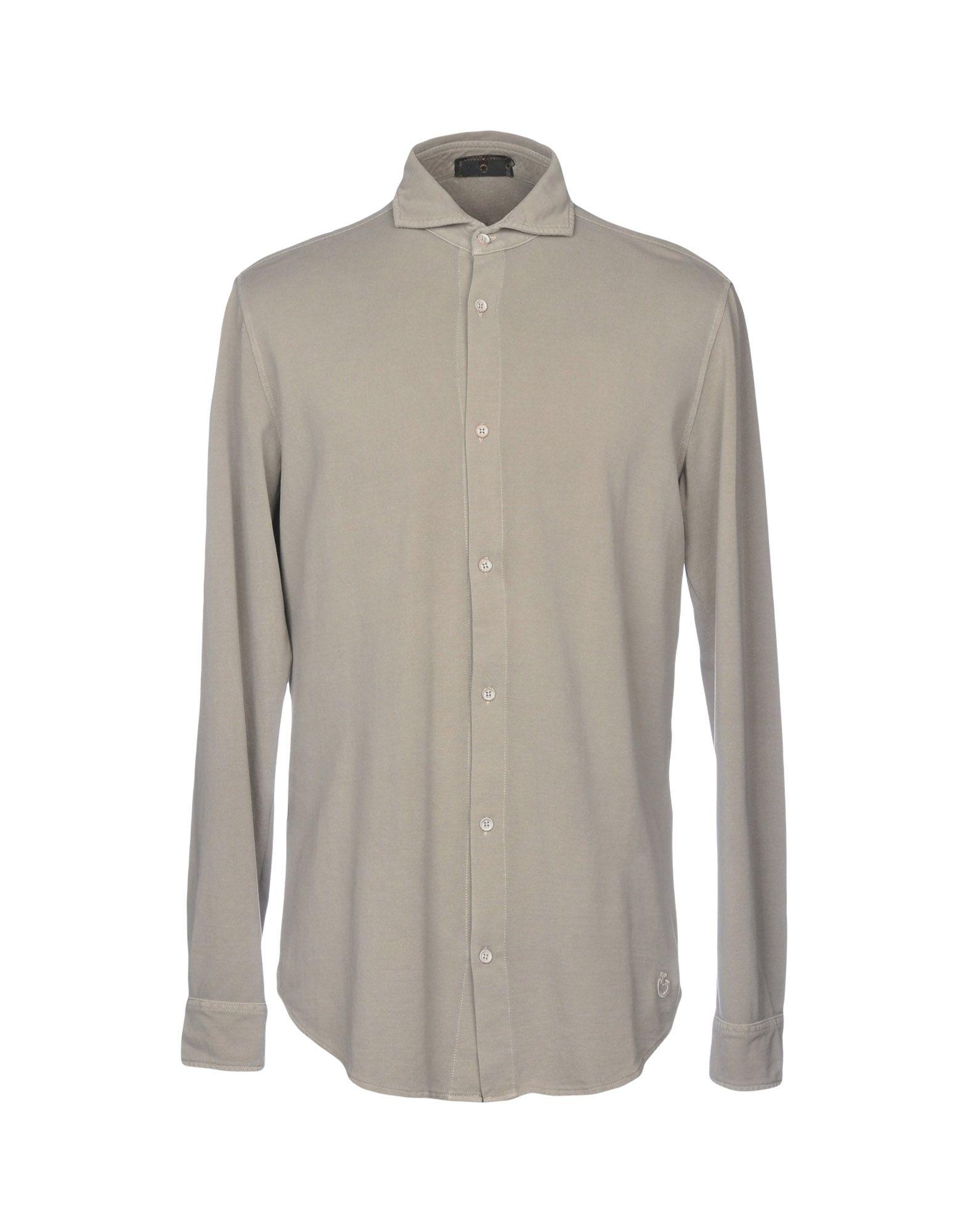 《送料無料》CAVALLERIA TOSCANA メンズ シャツ ライトグレー XL コットン 100%
