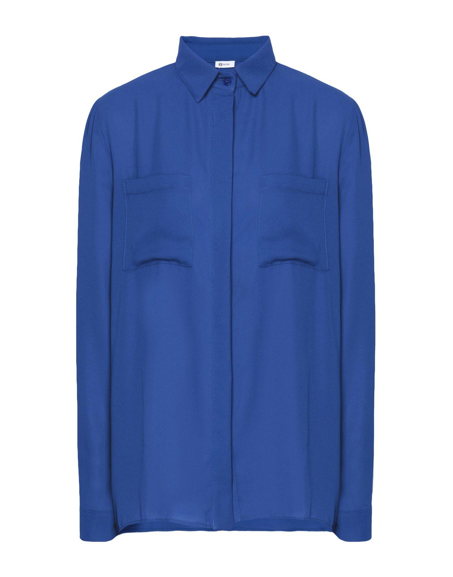 8 by YOOX Pубашка блузки и рубашки frizzzy рубашка детская калейдоскоп пуговиц