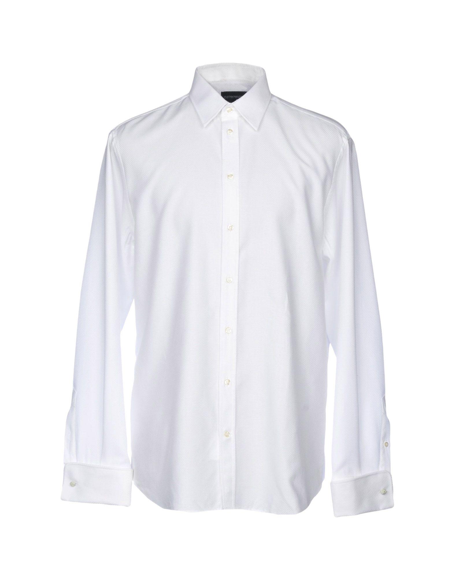 《送料無料》EMPORIO ARMANI メンズ シャツ ホワイト 39 コットン 100%