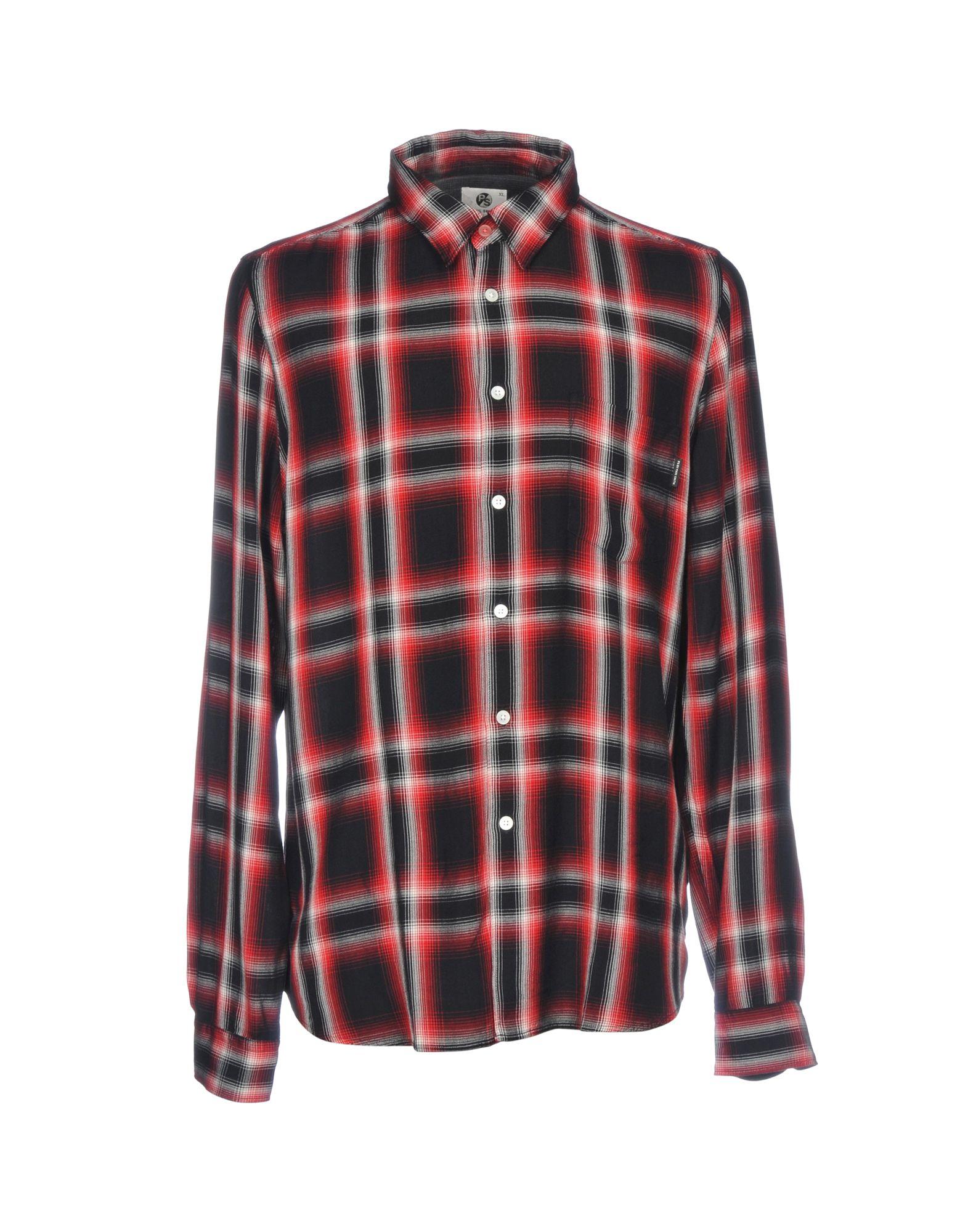 《セール開催中》PS PAUL SMITH メンズ シャツ レッド S レーヨン 100%