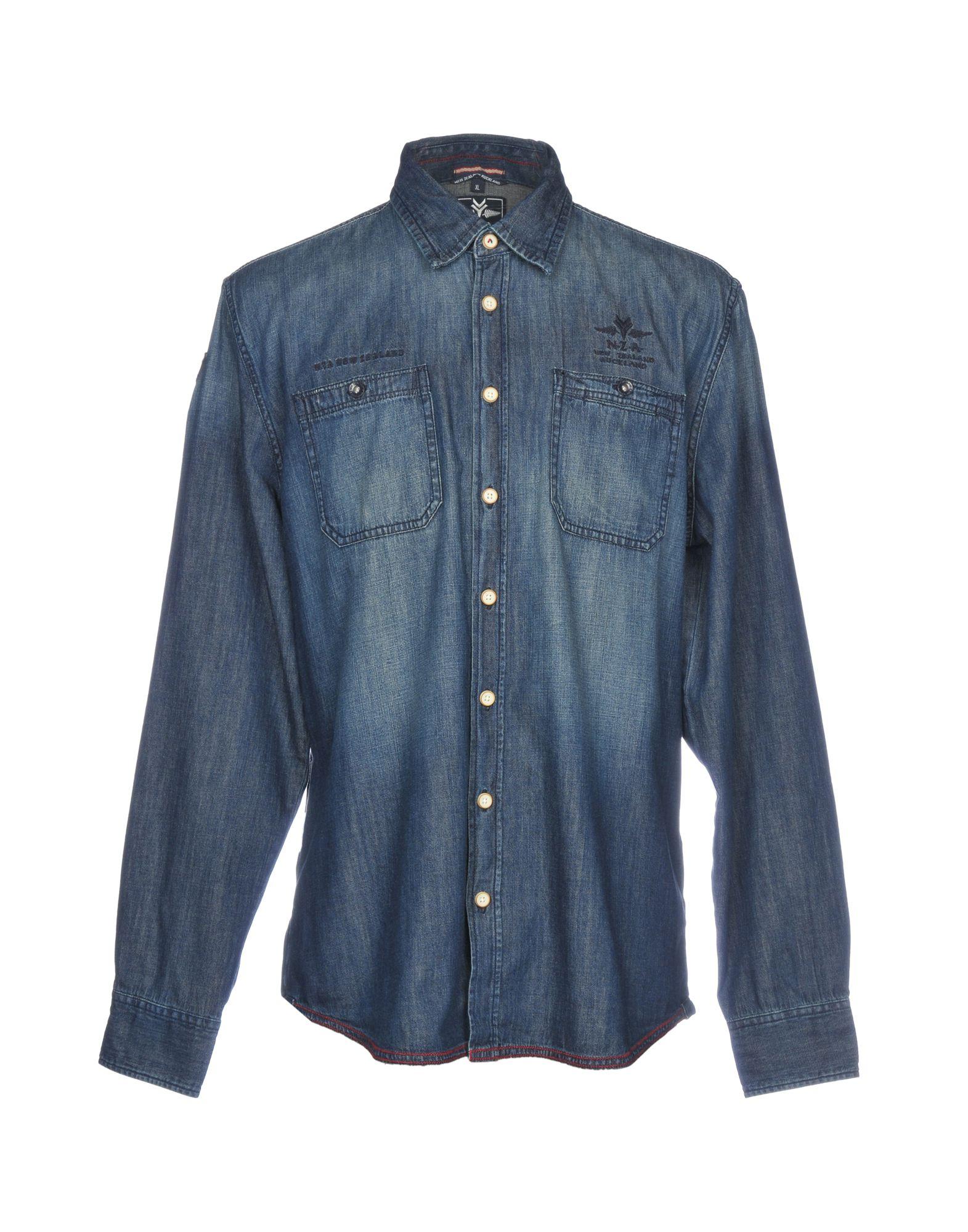 N•Z•A• NEW ZEALAND AUCKLAND Джинсовая рубашка new zealand auckland куртка new zealand auckland pa15an801c 470