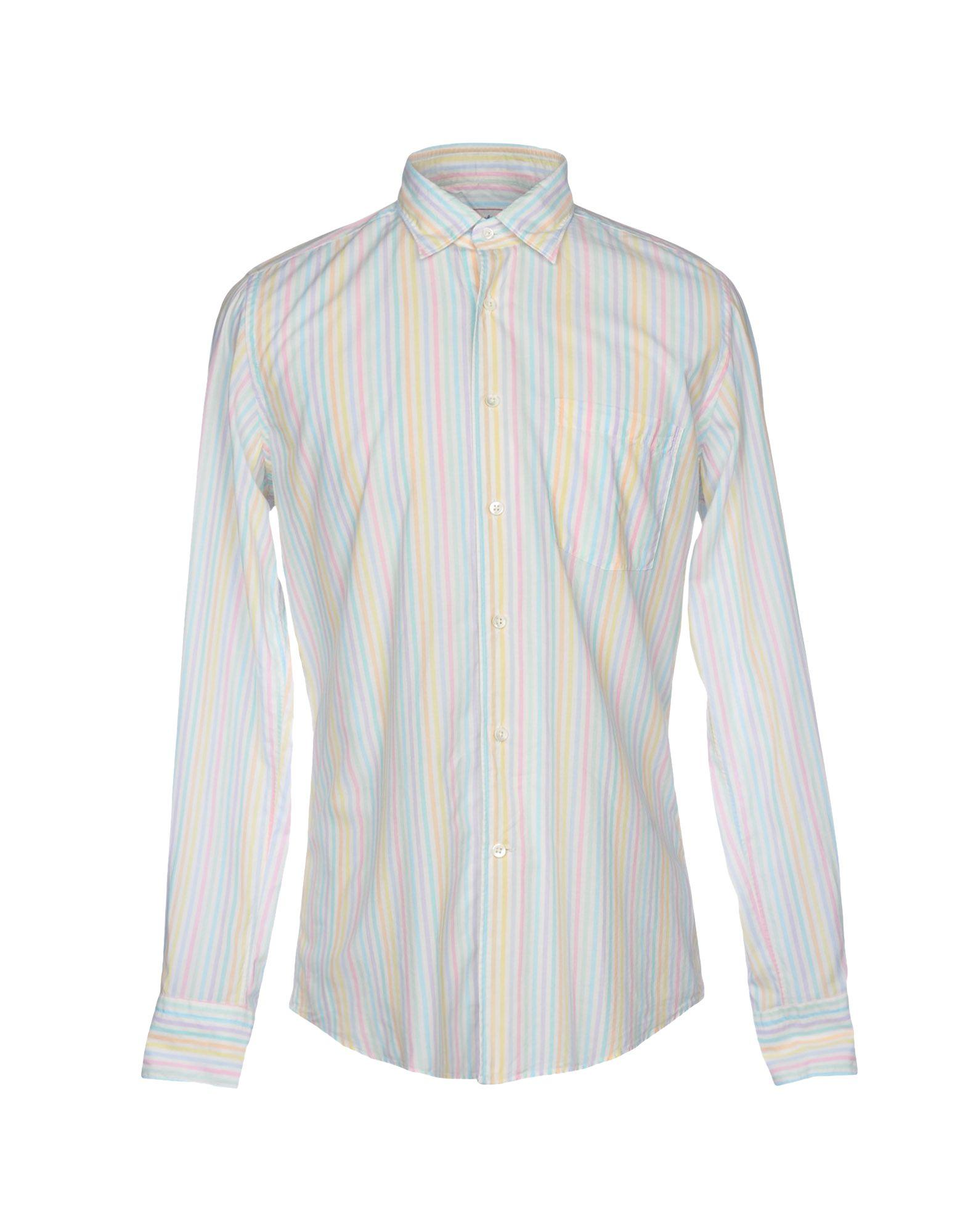 GLANSHIRT Striped Shirt in Sky Blue