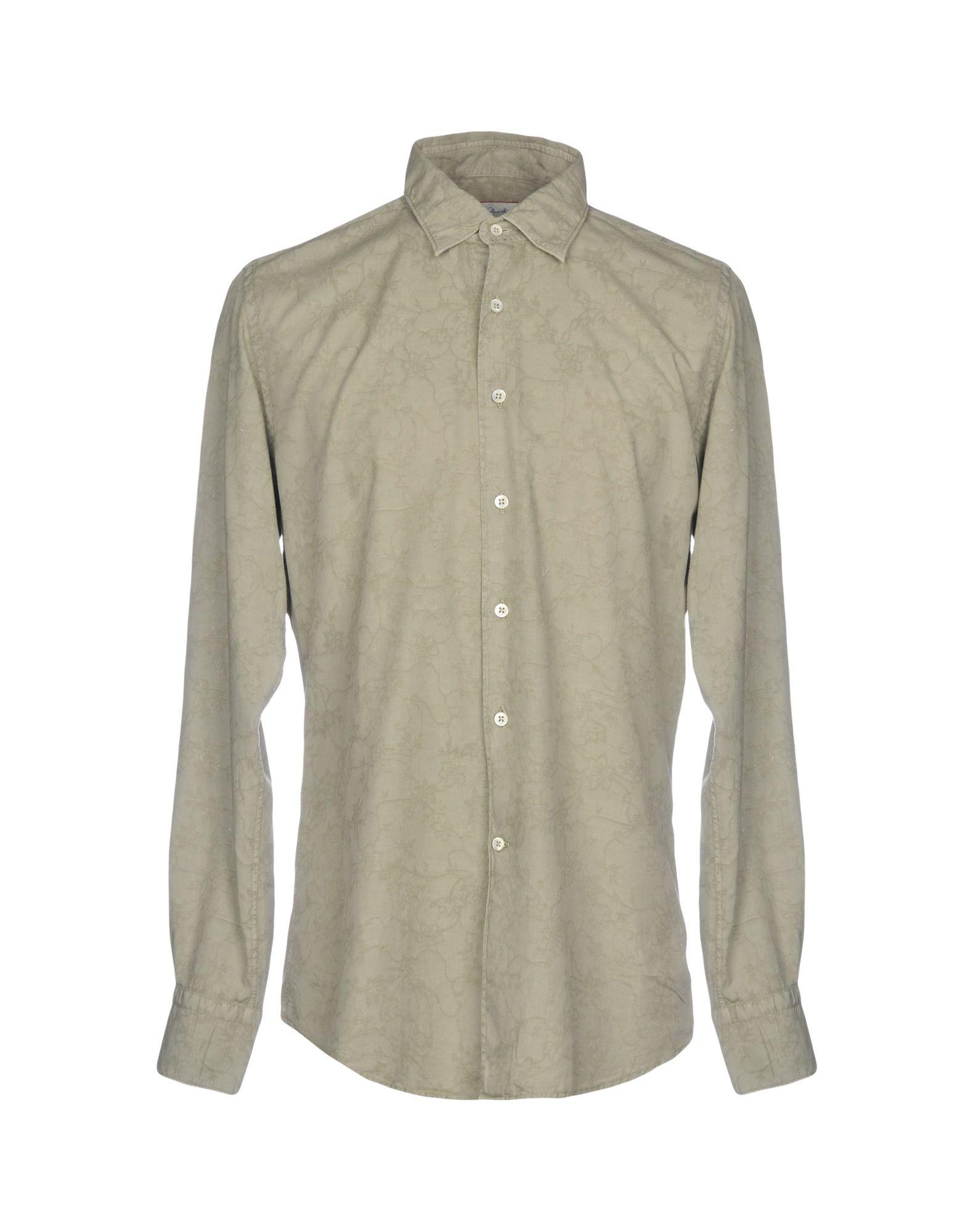 GLANSHIRT Solid Color Shirt in Grey