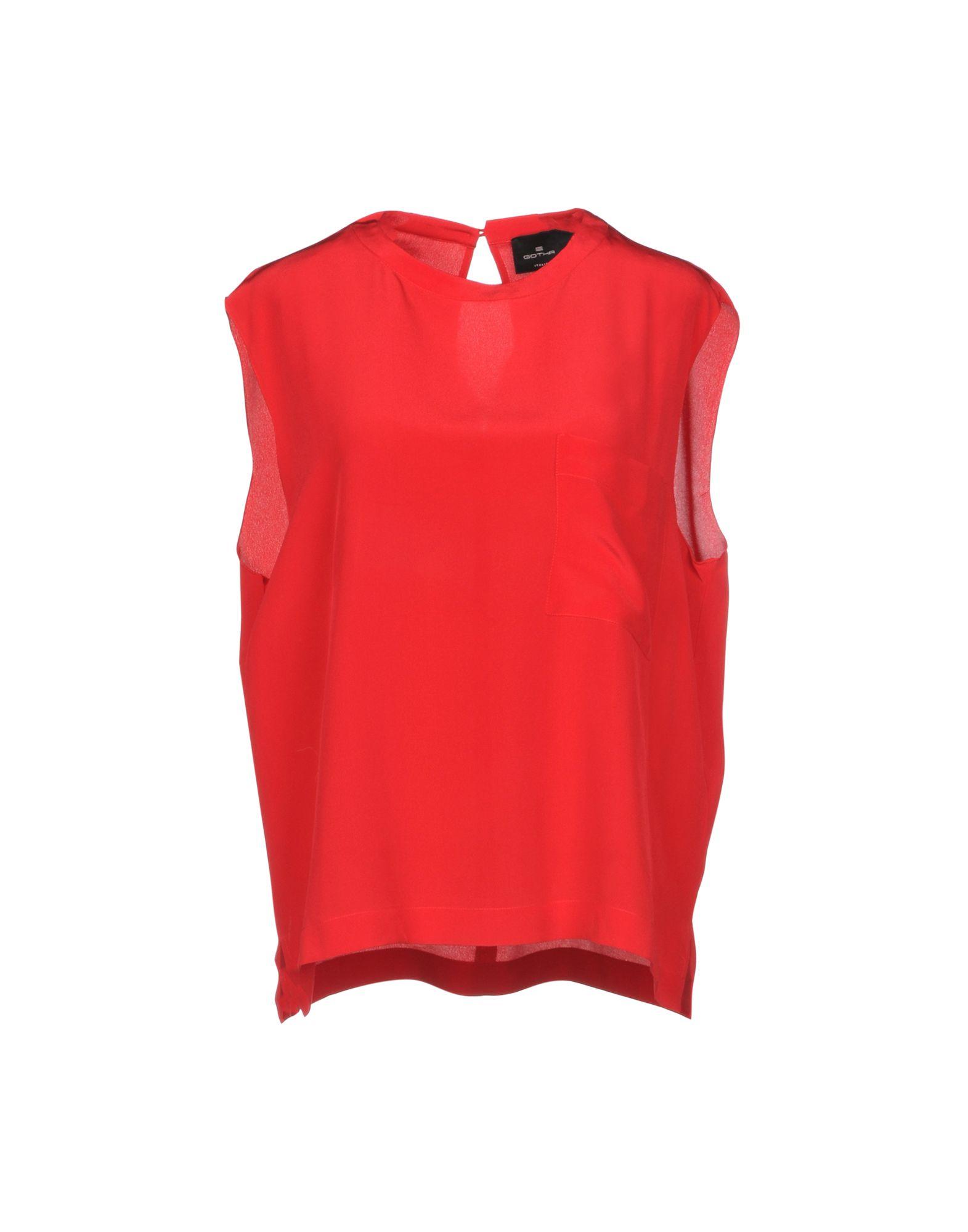 GOTHA Silk Top in Red