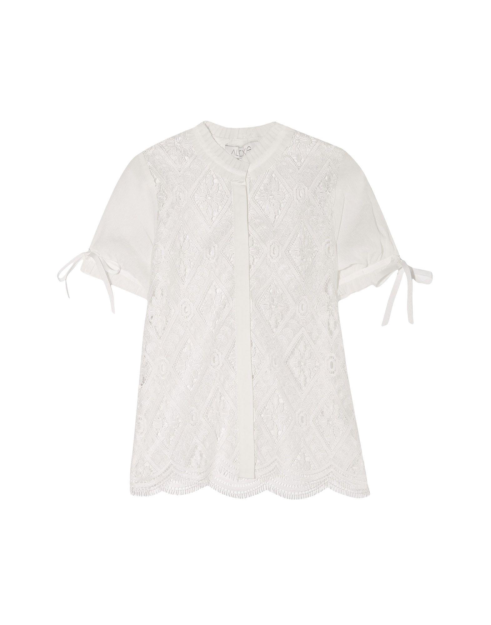《送料無料》ALEXIS レディース シャツ ホワイト XS ポリエステル 100% / シルク