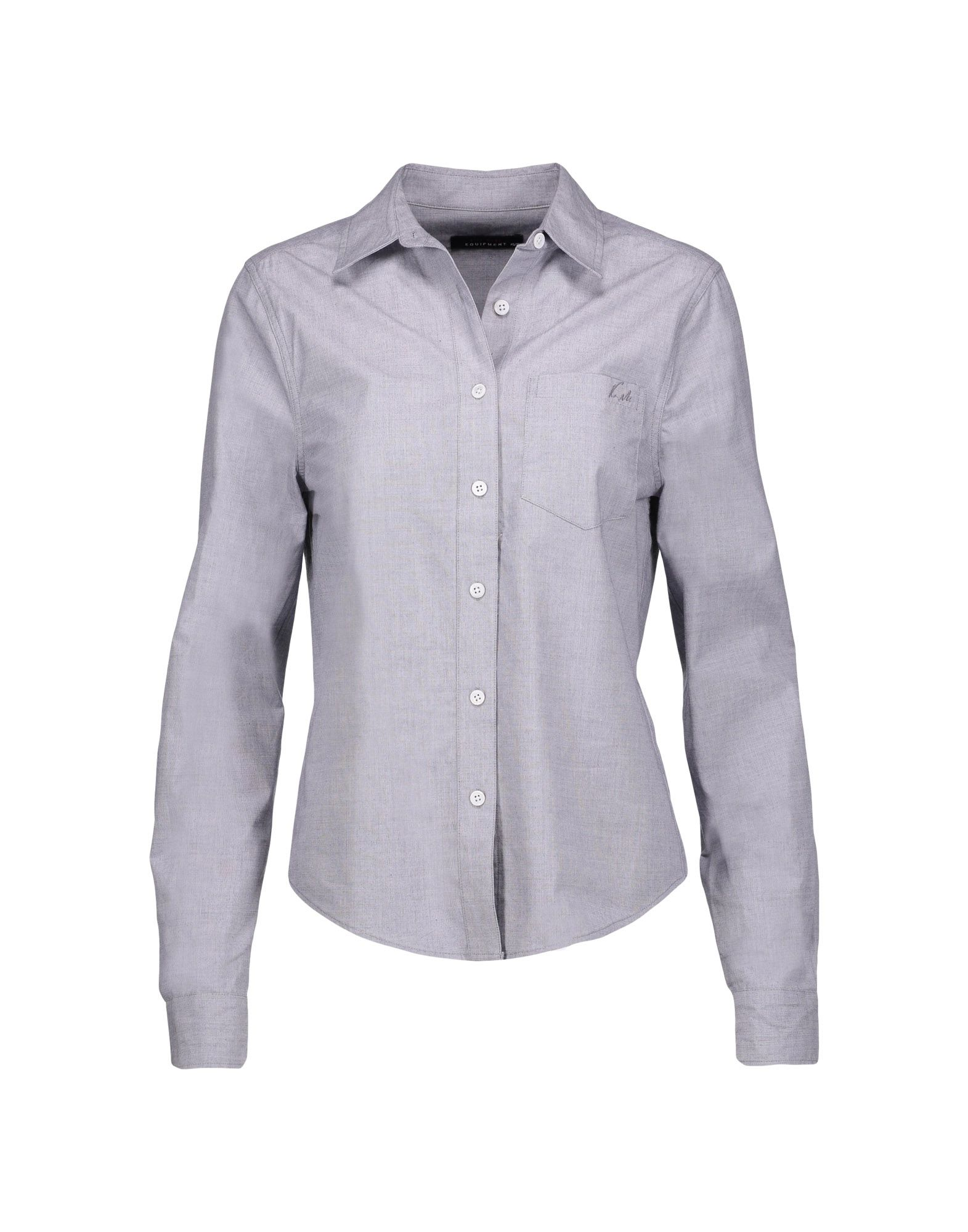 KATE MOSS EQUIPMENT Solid Color Shirts & Blouses in Blue