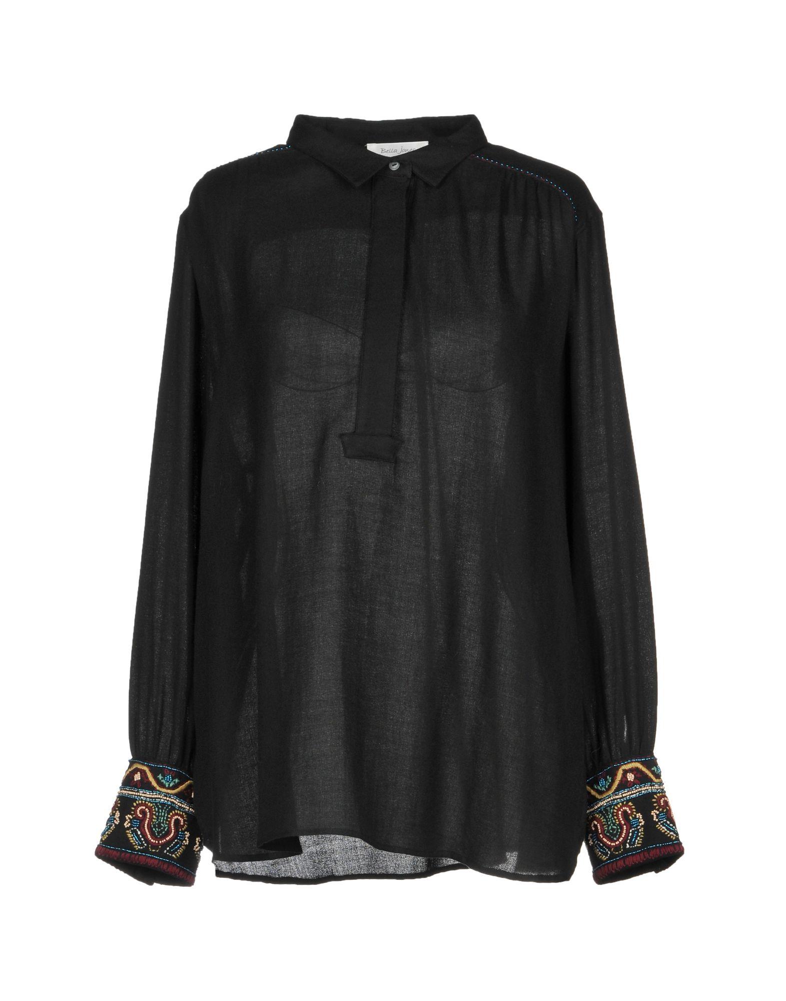 《送料無料》BELLA JONES レディース シャツ ブラック II コットン 100%