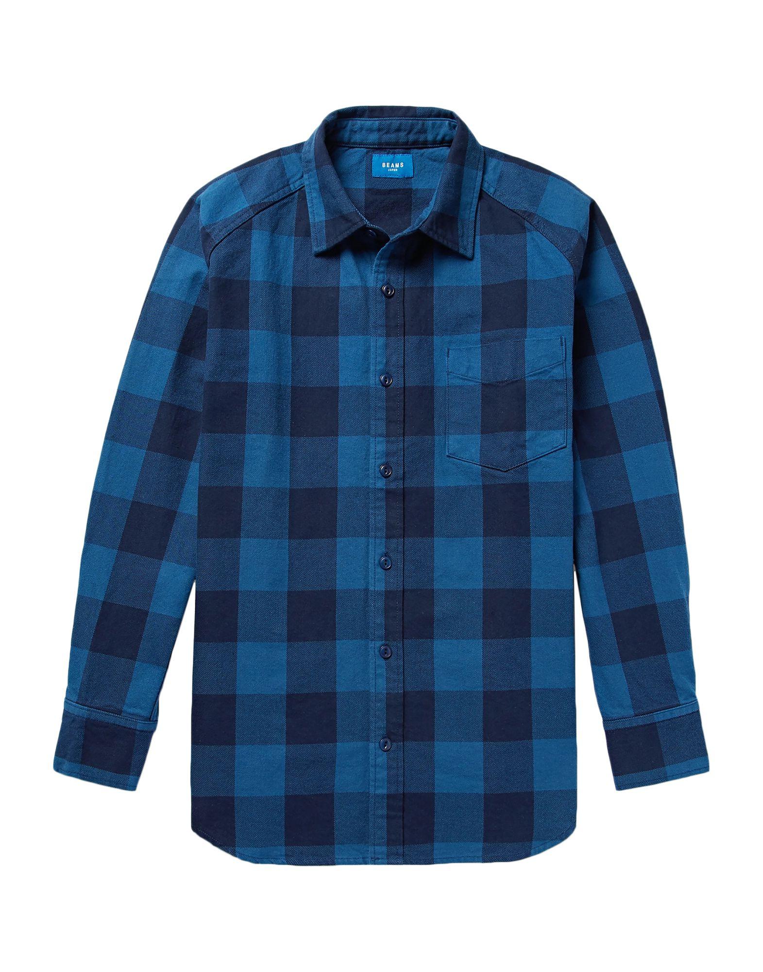 メンズ BEAMS シャツ ブルー