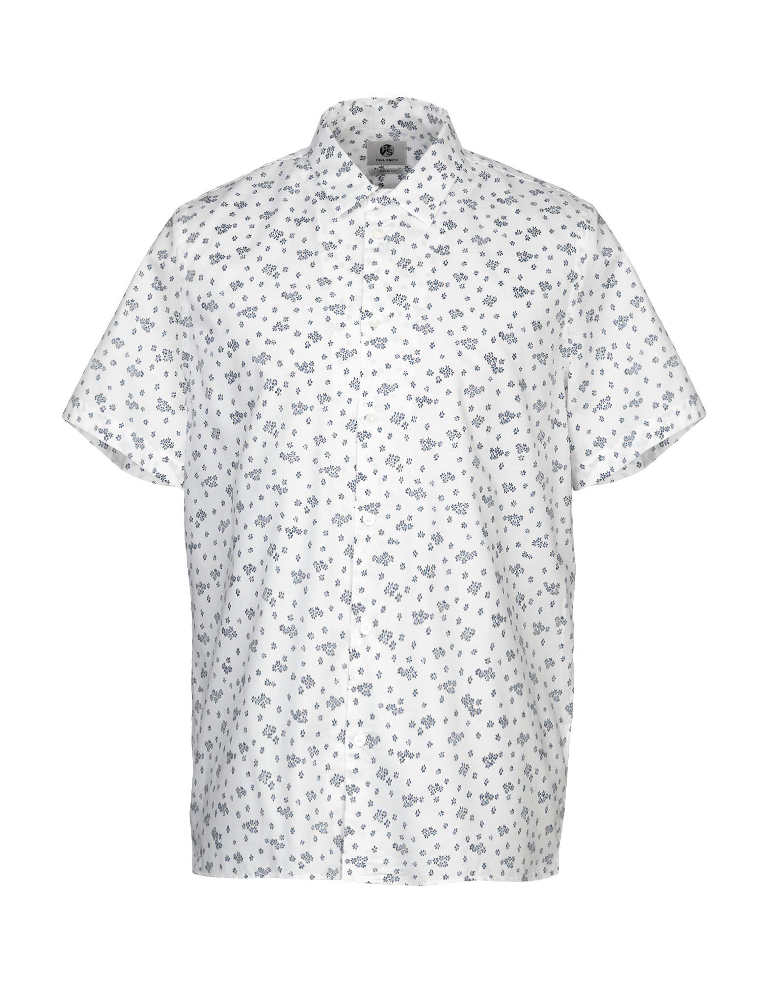 《セール開催中》PS PAUL SMITH メンズ シャツ ホワイト S コットン 100%