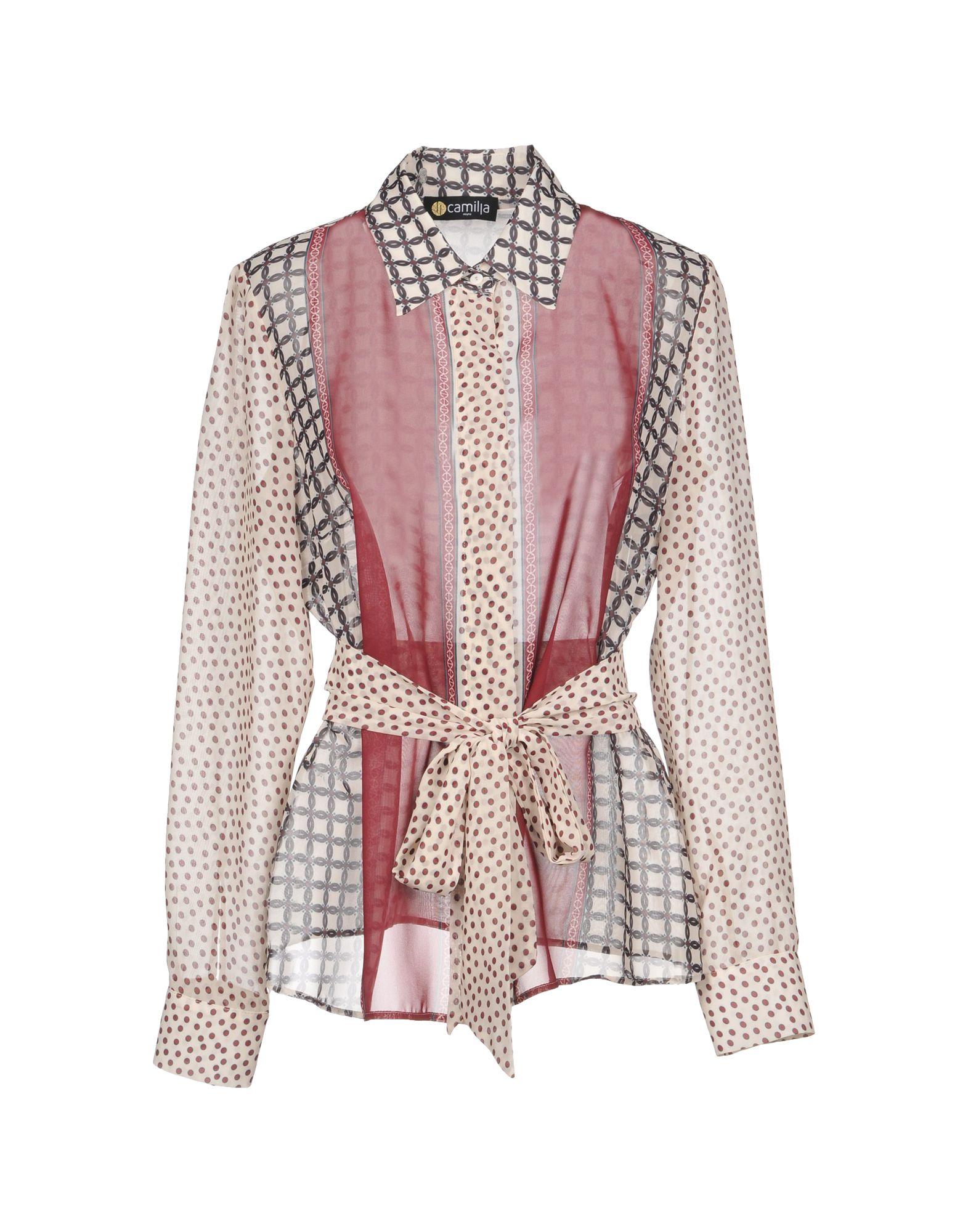 CAMILLA Milano Pубашка блуза xs milano блузы в горошек