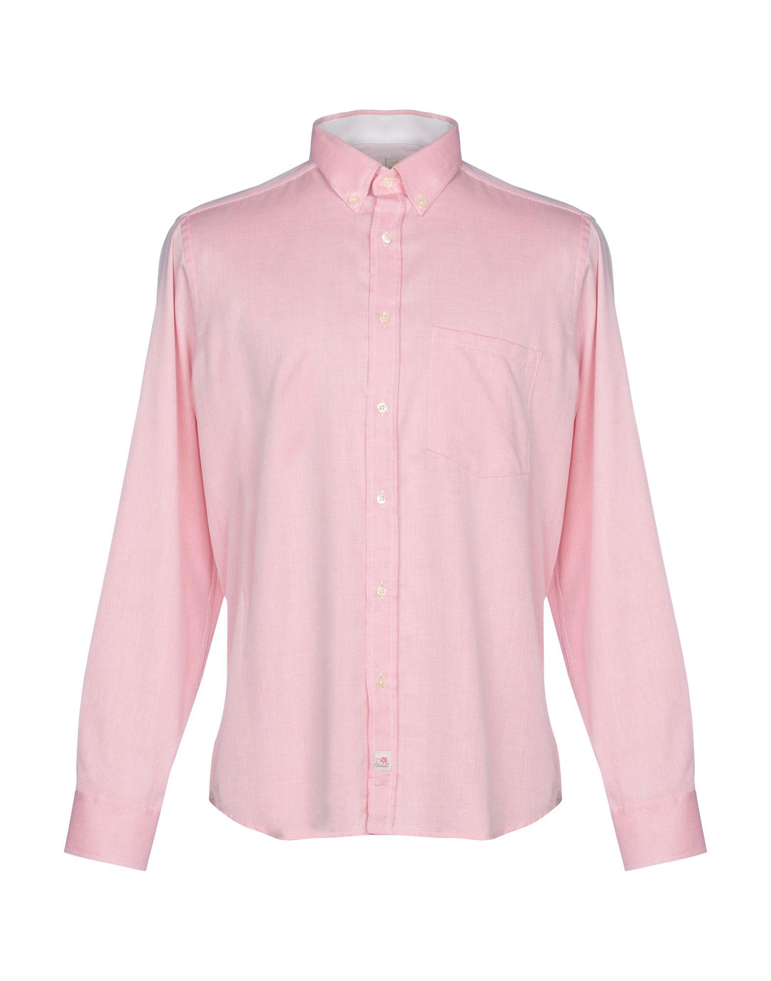 《送料無料》PANAMA メンズ シャツ レッド M コットン 100%