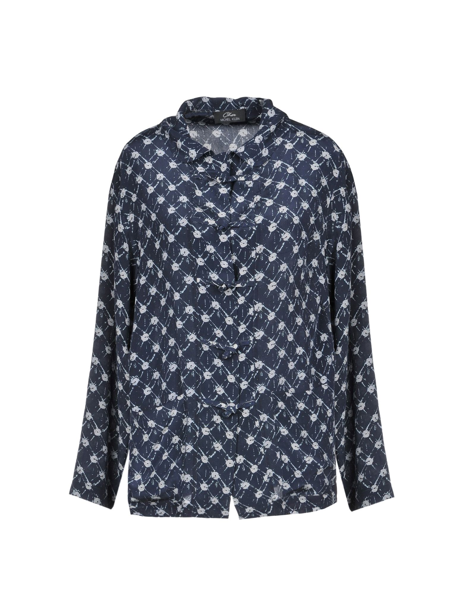 CHER MICHEL KLEIN Patterned Shirts & Blouses in Dark Blue