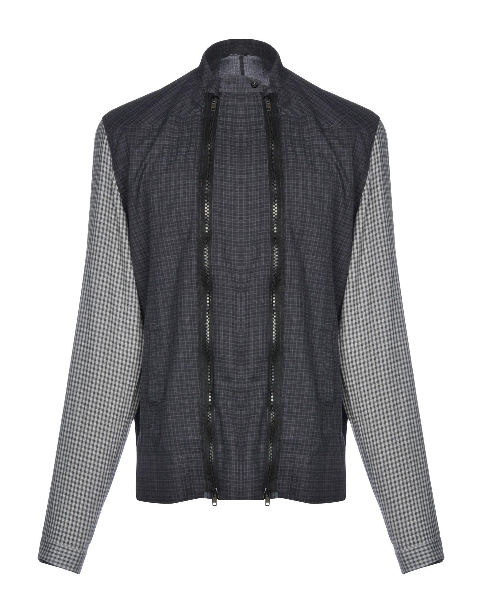 《送料無料》NICOLAS ANDREAS TARALIS メンズ シャツ 鉛色 41 コットン 100%