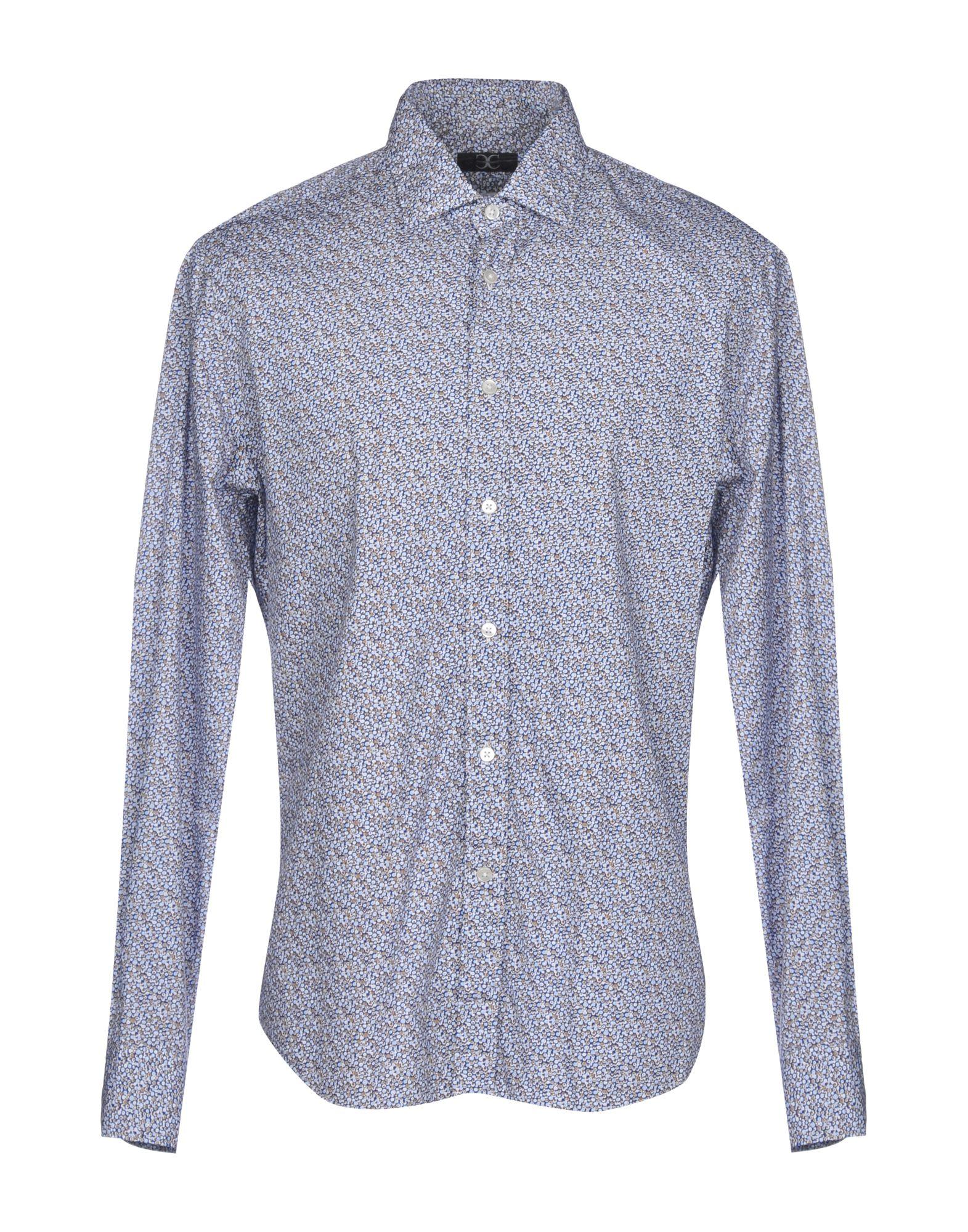 《送料無料》COCCHETTI メンズ シャツ ダークブルー L コットン 100%