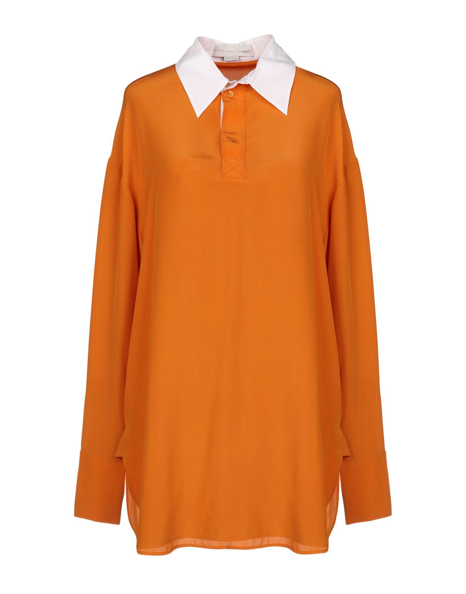 《送料無料》STELLA McCARTNEY レディース ブラウス オレンジ 38 シルク 100%