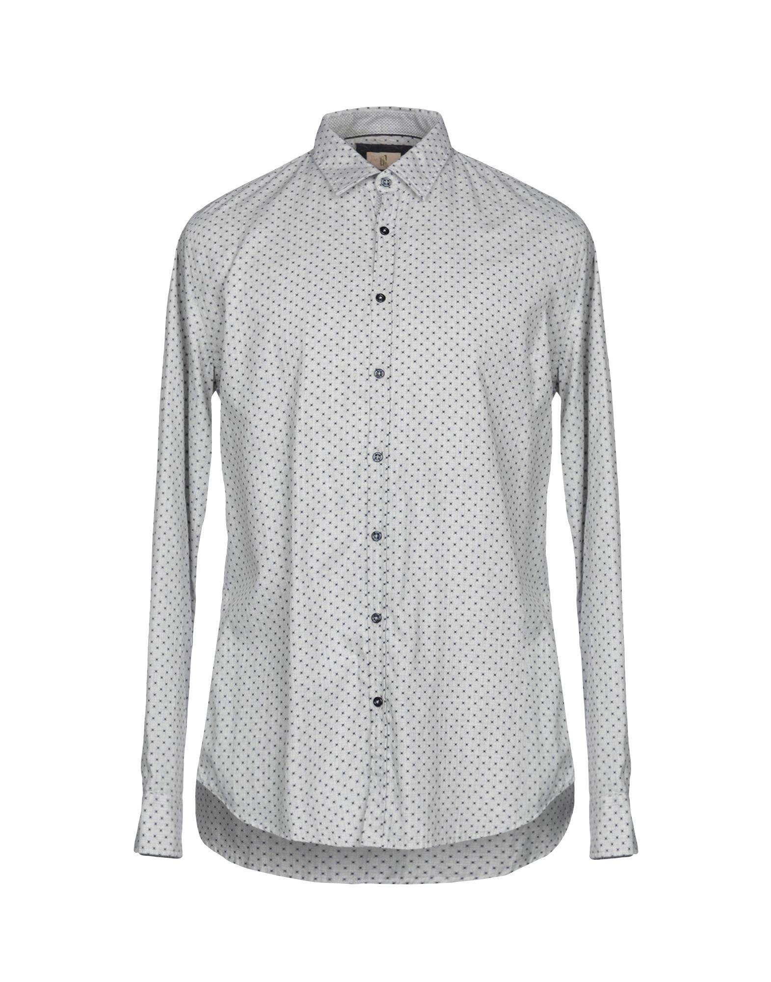 《送料無料》Q1 メンズ シャツ ライトグレー XL コットン 100%