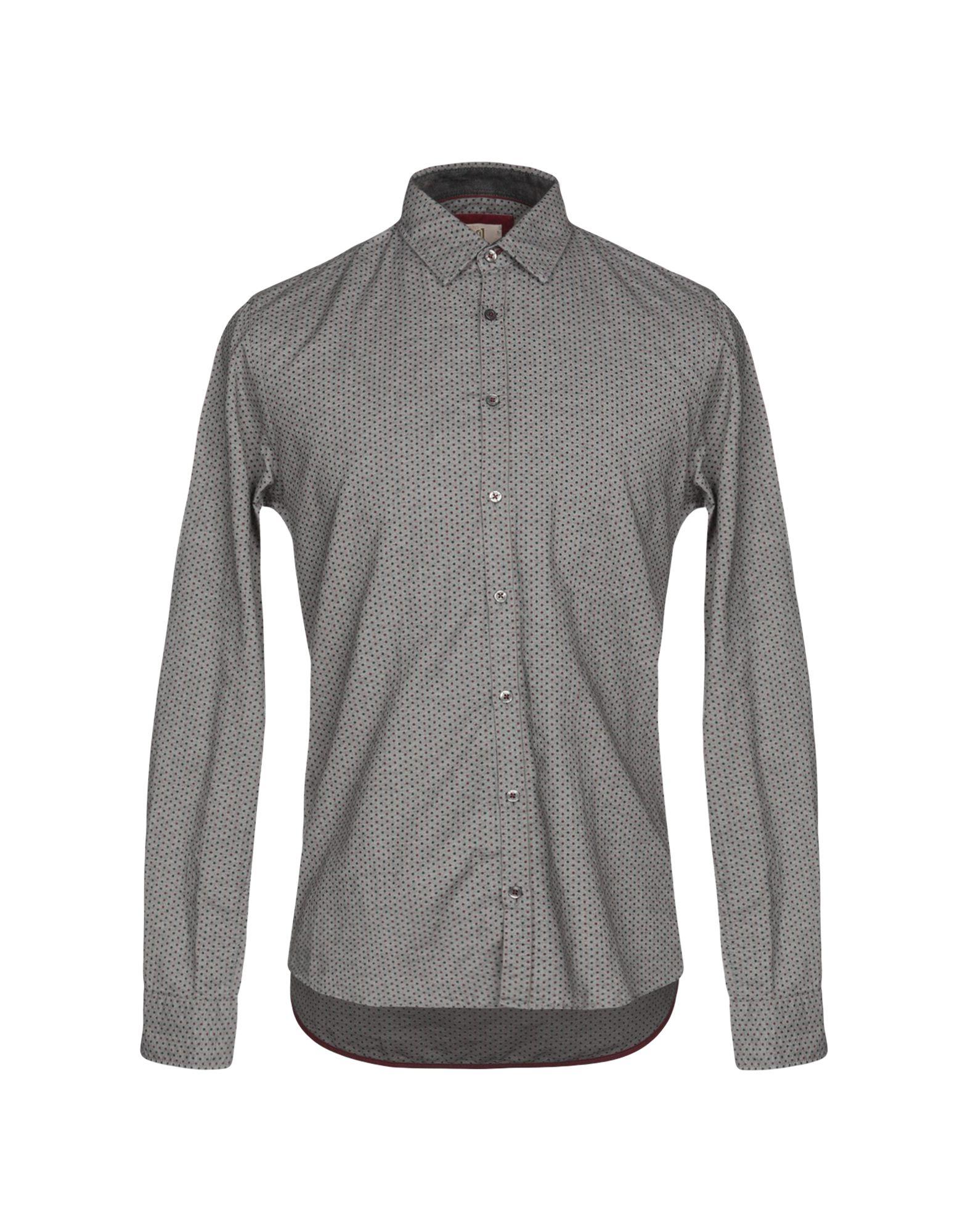 《送料無料》Q1 メンズ シャツ ライトグレー M コットン 100%