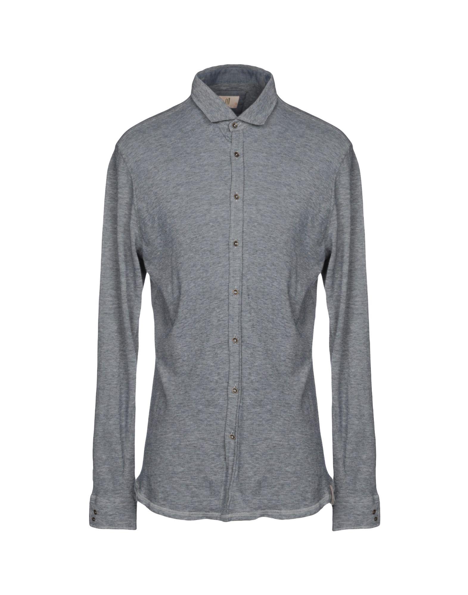 《送料無料》Q1 メンズ シャツ ブルーグレー XXL コットン 100%