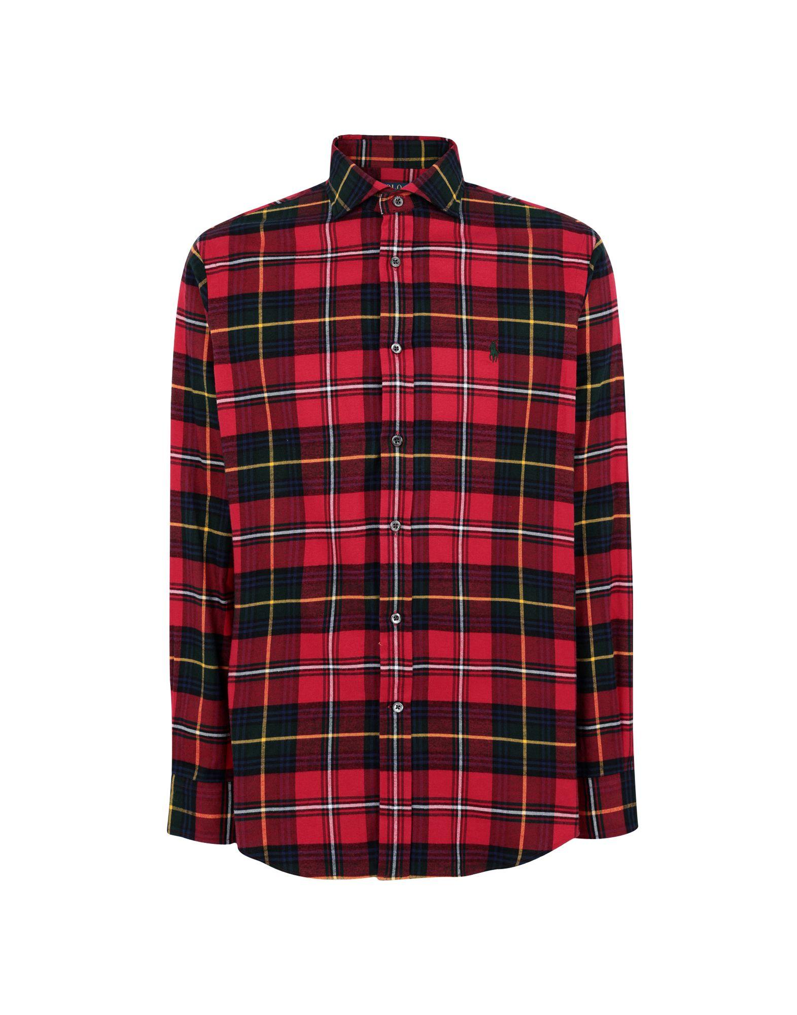 《期間限定セール開催中!》POLO RALPH LAUREN メンズ シャツ レッド XS コットン 100% Classic Fit Plaid Shirt