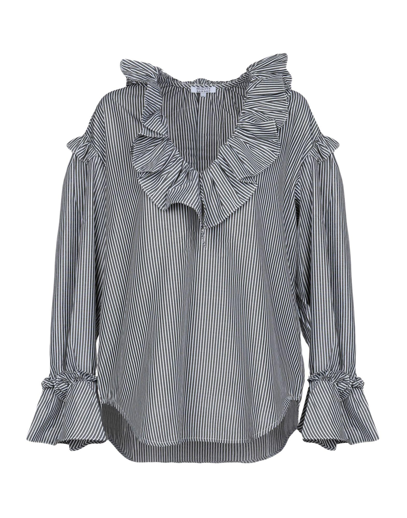 BRIGITTE BARDOT Блузка v notch faux feather detail bardot top