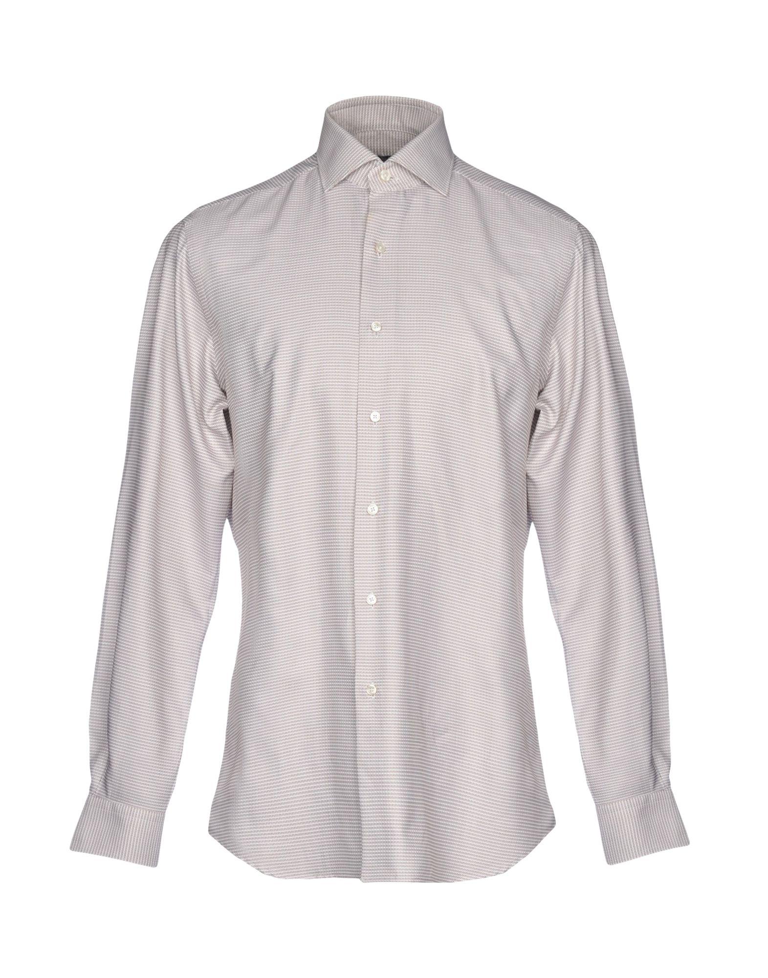 《送料無料》XACUS メンズ シャツ アイボリー 40 コットン 100%