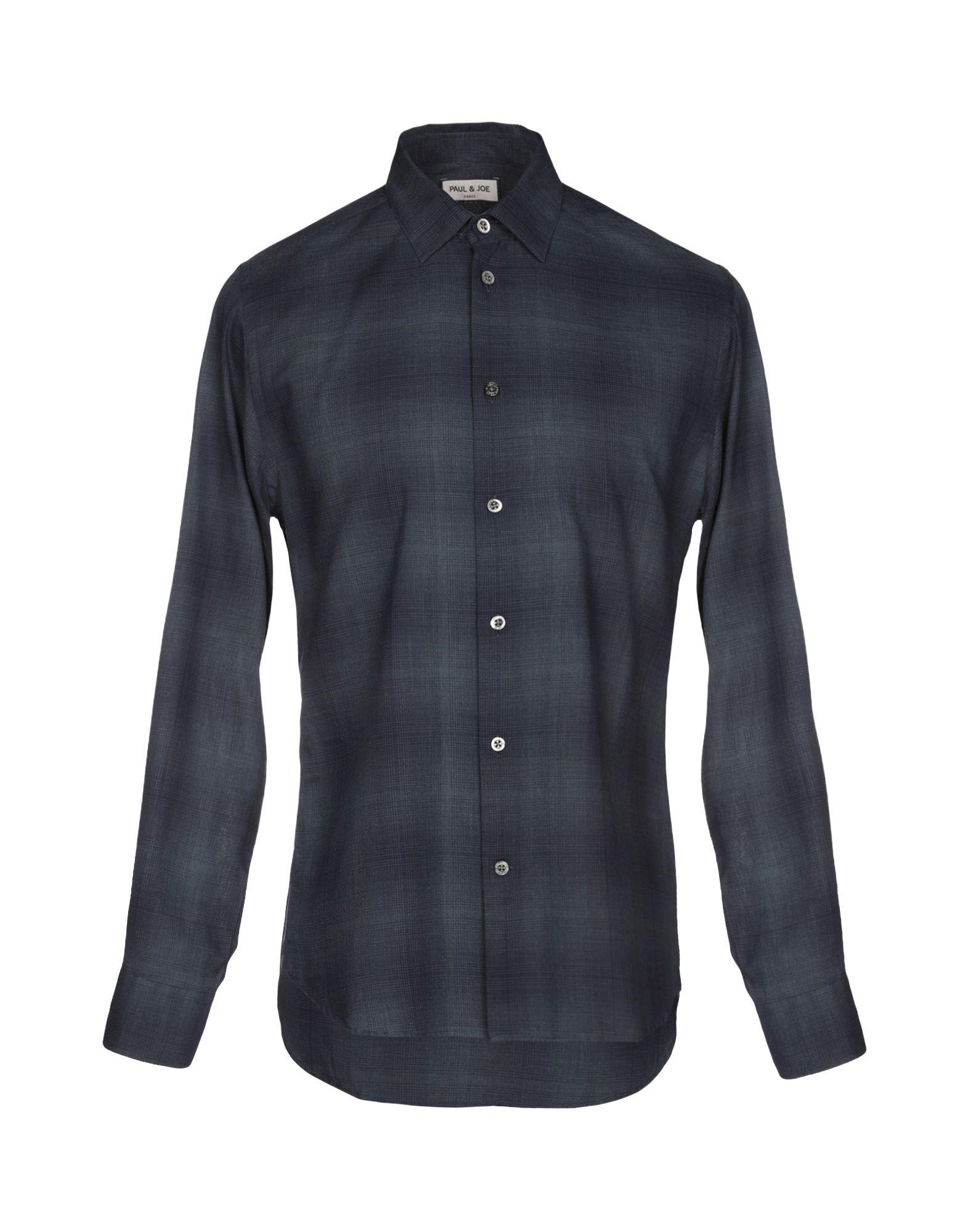 《送料無料》PAUL & JOE メンズ シャツ ダークブルー S コットン 100%