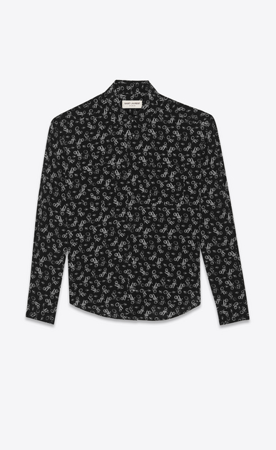 Motorcycle printed shirt in silk