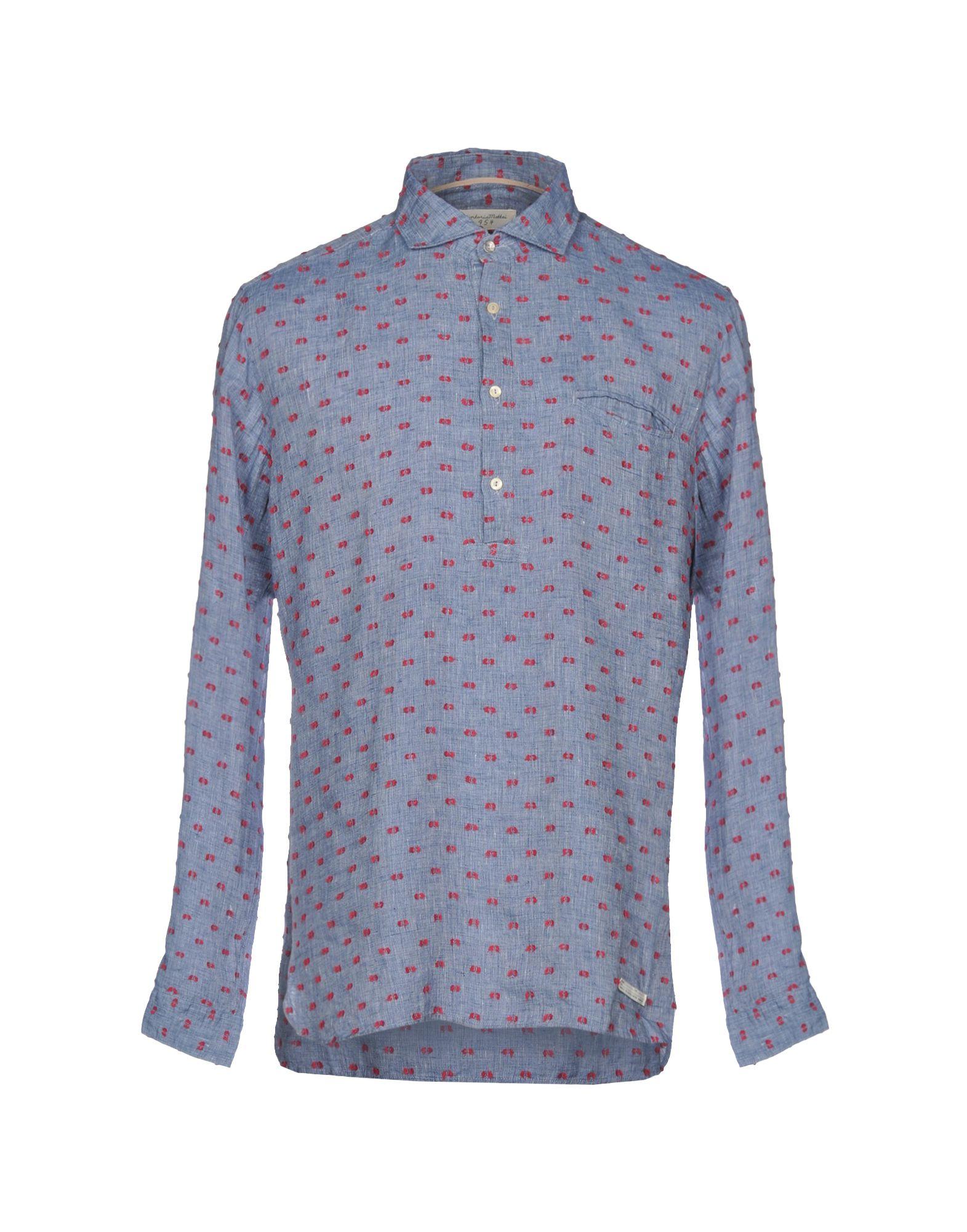 《セール開催中》TINTORIA MATTEI 954 メンズ シャツ アジュールブルー 37 コットン 100%