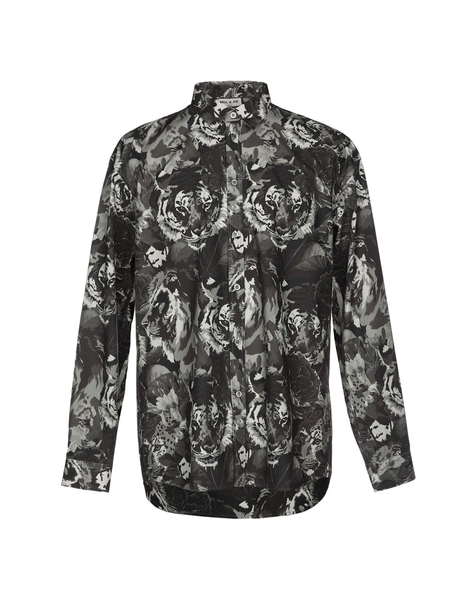 《送料無料》PAUL & JOE メンズ シャツ 鉛色 L コットン 100%